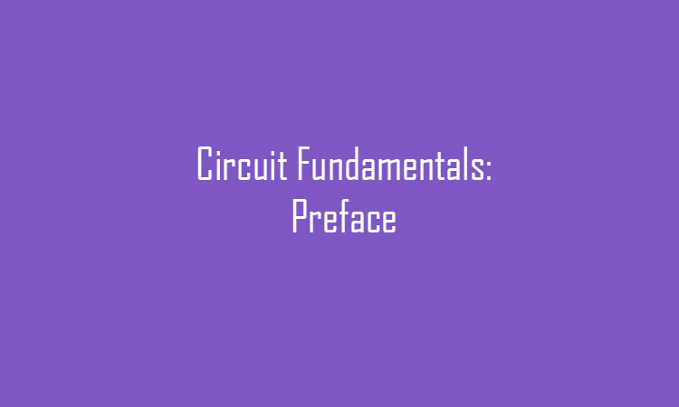 Electronic Circuits Preface
