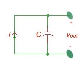 Figure 2. Equivalent circuit piezoelectric sensor