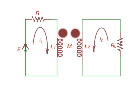 A simple circuit with a tranformer.