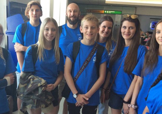 Students and teachers from the UK attend Space Camp in US