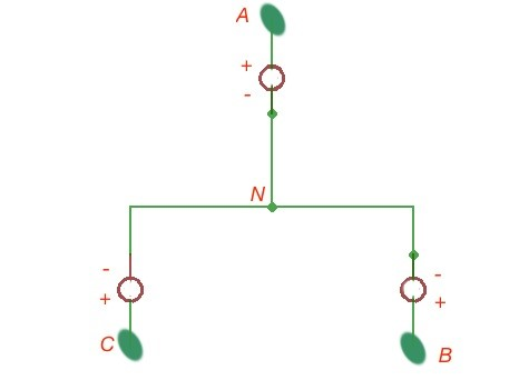 Figure 1. Schematic depiction of a three-terminal.