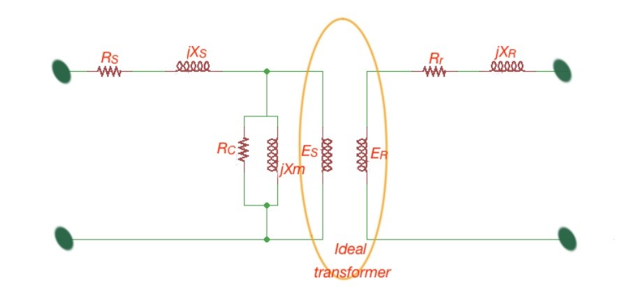 Induction motor circuit