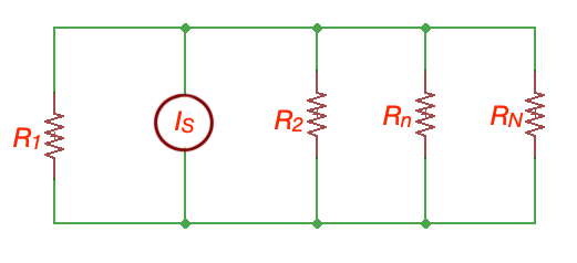 Resistors in parallel and current divider