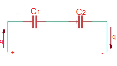 How do you calculate capacitors in series and parallel