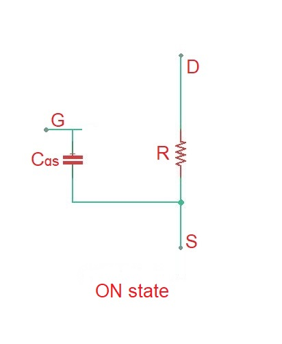 What is gate capacitance of MOSFET