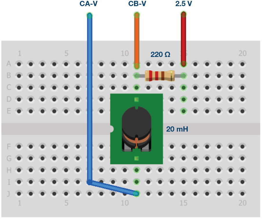 Figure 6. Breadboard connections.
