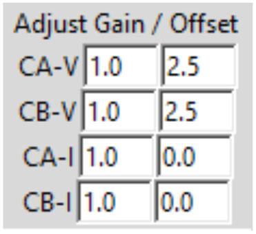Figure 9. Adjust Gain/Offset menu.